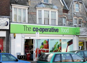 frontage of the Penarth Co-operative shop, Windsor Road