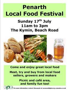 Penarth local food festival poster 17 July 2011