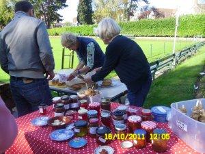 Jam stall at Penarth Apple Day 2011